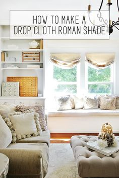 How to Make a Drop Cloth Roman Shades When I was little, I used to call things cool. Things that were amazing, things that were incredible, things that poems and songs and odes should be written about…. …they were called cool. Rustic Curtains, Diy Curtains, Farmhouse Curtains, Blinds Diy, Homemade Curtains, Roman Curtains, Patterned Curtains, Layered Curtains, Purple Curtains