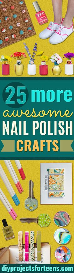 DIY Crafts Using Nail Polish - Fun, Cool, Easy and Cheap Craft Ideas for Girls, Teens, Tweens and Adults | Wire Flowers, Glue Gun Craft Projects and Jewelry Made From nailpolish - Water Marble Tutorials and How To With Step by Step Instructions  via @diyprojectteens