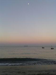 Amanecer en Playa Dormida. Santa Marta Santa Marta, Jamaica, Moon, Celestial, Sunset, Water, Outdoor, Dawn, So Done