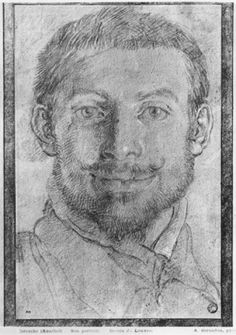 Self-portrait drawing by Annibale Carracci, Italian Painter. Guy Drawing, Life Drawing, Painting & Drawing, Self Portrait Drawing, Pencil Portrait, Moleskine, Annibale Carracci, Selfies, Cubism Art