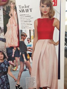 Pale pink and red outfit