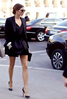 Fabulous and fun evening outfit seen on Olivia Palermo. Ft. the always amazing Pigalle Louboutins