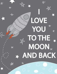 Rocketship Love you to the moon and back by CreativeWildChild