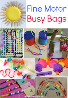 Fine Motor Busy Bags for Kids!