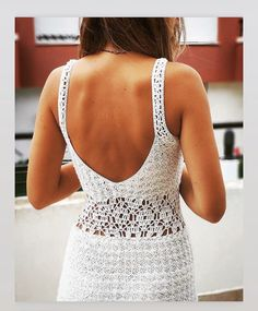 White Dress, Crochet, Dresses, Vestidos, White Dress Outfit, Knit Crochet, Dress, Dressers, Crocheting