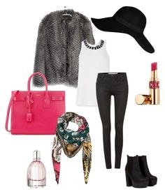 """""""Set"""" by seriouskatya ❤ liked on Polyvore featuring MANGO, River Island, Yves Saint Laurent, See by Chloé, Armani Jeans, Calvin Klein, Valentino, casual, Pink and hat"""