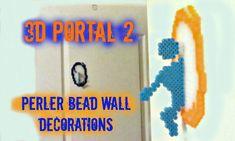 3D Portal 2 Perler Bead Craft Wall Decorations Tutorial