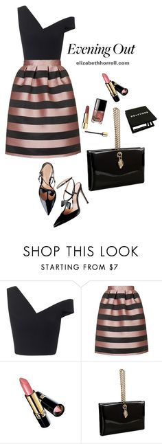 LIZ by elizabethhorrell on Polyvore featuring Maticevski, Topshop, Roberto Cavalli and Revlon
