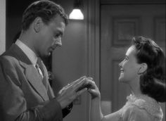 Shadow of a Doubt - Joseph Cotten as the evil Uncle Henry & Teresa Wright