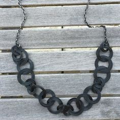 Black Linked Necklace Black linked necklace. Jewelry Necklaces