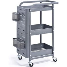 Rolling Utility Cart, Rolling Storage Cart, Storage Trolley, Storage Bins, Storage Spaces, Rolling Carts, Ikea Utility Cart, Pegboard Storage, Tool Storage