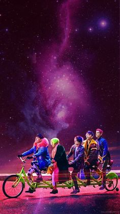 Riding a bike through the galaxy~ BIGBANG FXXK IT wallpaper