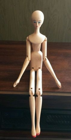 Vintage Wooden Peg Doll Painted Face | eBay