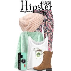 Hipster Tag by sassyfrasscat on Polyvore featuring Markus Lupfer and Forever 21