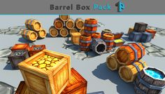 Low Poly Barrel-Box Pack has just been added to GameDev Market! Check it out: http://ift.tt/1Ld1UVc #gamedev #indiedev