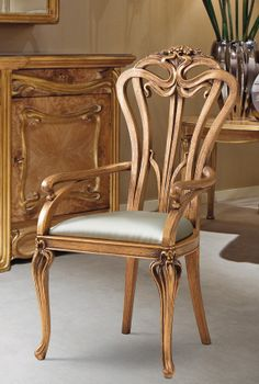 From the early a beautifully hand carved dining chair. Art Nouveau Interior, Art Nouveau Furniture, Art Nouveau Architecture, Art Nouveau Design, Classic Furniture, Unique Furniture, Vintage Furniture, Furniture Design, Furniture Ideas