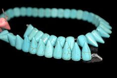 Azul turquesa abalorios en forma de bala triangulo cuentas artesanía jewelry beads  bisutería  joyería, supplies, charms pack 20 unidades