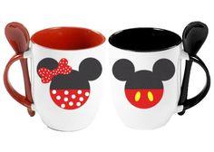Pásele Joven: Paquete de tazas con cucharita: Mickey y Mimi - Kichink!