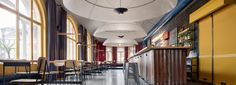 mjolk architekti adds a chicago flair to restaurant in liberec