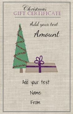 Pin by nancy ruhl on gift ideas pinterest gift coupons gift free printable christmas gift certificate template can be customized online instant download since yelopaper