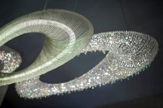 Artica Chandelier with crystal and with chain www.manooi.com #Manooi #Chandelier #CrystalChandelier #Design #Lighting #Artica #luxury #furniture