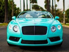 Tiffany Blue Bentley Continental GTC / Ultimate #TreatYoSelf Valentine's Edition / #ParksandRec