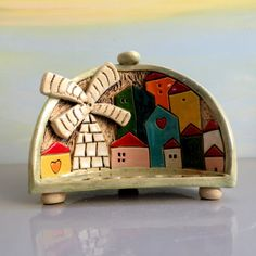 Hey, I found this really awesome Etsy listing at https://www.etsy.com/listing/211697041/ceramic-menorah-tiny-houses-hanukkah