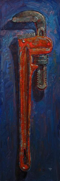 "Daily Paintworks - ""Pipe Wrench"" - Original Fine Art for Sale - © Raymond Logan Painting Still Life, Paintings I Love, Still Life Artists, Observational Drawing, Mechanical Art, A Level Art, Pastel Art, Fine Art Gallery, Art Oil"