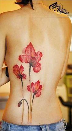 43 Poppies tattoo