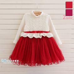 Popular Baby girl fashion dress.Children christmas dress with rose flower,little girls clothing.Free shipping US $38.42