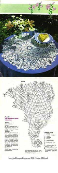Oval crochet doily pineapple crochet doily oval by kroshetmania Filet Crochet, Crochet Chart, Thread Crochet, Irish Crochet, Crochet Stitches, Crochet Dollies, Crochet Doily Patterns, Crochet Motif, Crochet Designs