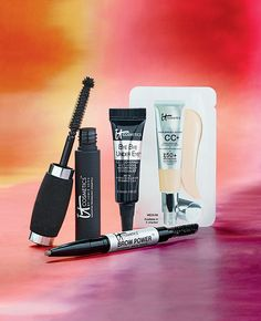 For a beautiul, fresh, fall face try IT Cosmetics Bye Bye Under eye + IT Cosmetics CC cream and top it off with IT Cosmetics Brow Power and mascara!