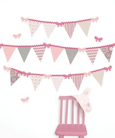 Another great find on #zulily! Hailey Pennant Decal Set by WallPops! #zulilyfinds