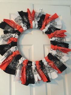 Halloween/ Baltimore Orioles/Harley Davidson Wreath