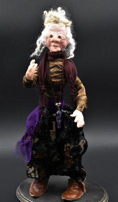HippieHag Art Doll, Ooak Art Doll, Bohemian Art Doll, Art & Collectibles,Funky Lady Sculpture,Free Spirit Art Sculpture,Donna Telep Original by HippieHags on Etsy Loose Buns, Bohemian Art, Brown Leather Shoes, Chiffon Scarf, White Hair, Free Spirit, Sculpture Art, Art Dolls, The Originals