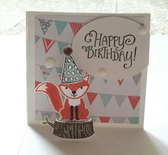 This Foxy Friends from Stampin'up was just DYING to be made into a pop-up!!