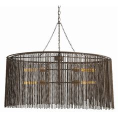 Maxim 4L Iron Beaded Oval Chandelier | http://www.cottageandbungalow.com/ah-46763.html#