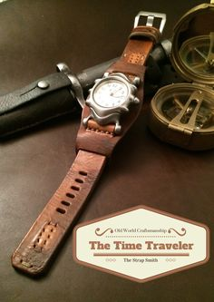 Vintage leather strap from 100 year old ammo pouch leather