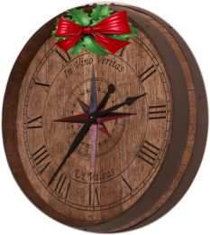 these stunning tenth barrel clocks are custom carved from the end of an authentic recently retired fully reconditioned french oak wine b authentic oak red wine