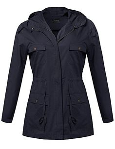 Plus4u Womens Beautiful Fit Cotton Blend Classic Double Breasted Trench Coat