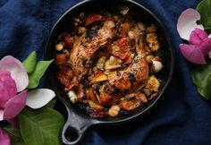 Petite Kitchen's Recipe For Roast Chicken With Butter Beans, Basil and Tomato - Viva