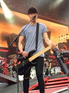 Calum on stage in Manchester a while ago