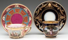 CONTINENTAL PORCELAIN ITEMS,  Circa 1830-1850