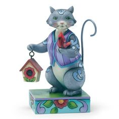 Enesco Jim Shore Heartwood Creek Cat with Cardinal/Birdhouse Figurine, 6.125-Inch by Enesco, http://www.amazon.com/dp/B009AB1GLW/ref=cm_sw_r_pi_dp_b5lKqb0M3A0GX