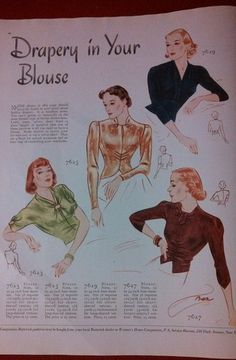 1937 Sewing Patterns Ad Butterick Chic for Growing Girls Corseted Look | Butterick 7623, 7625, 7629 and 7627