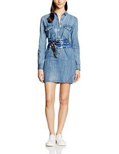 GUESS - Vestido Estilo Camisa  Los vestidos vaqueros son una prenda que nunca pasan de moda.  LOOK CASUAL  ENVIO GRATUITO