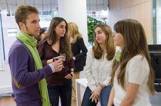 Nuestra diseñadora, Lucía Castro, con Lucas, Laura y Leticia