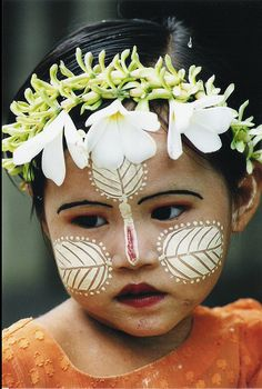 Face if a young girl in Burma. #faces