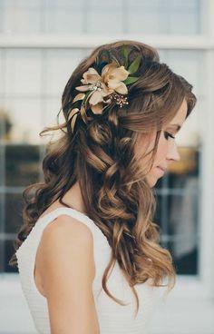 kır düğünü için saç modeli # saç modelleri # moda # güzellik