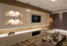 Uso de nichos na decoração da sala - Revista Casa Linda: